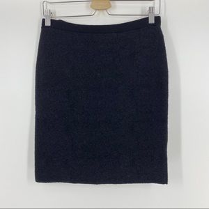 Eileen Fisher Wool Skirt Black Size XS Extra Small